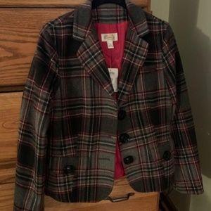 Plaid Jacket wool Talbots